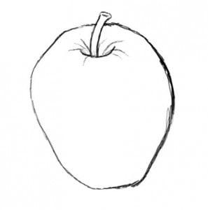 как рисовать яблоко карандашом поэтапно