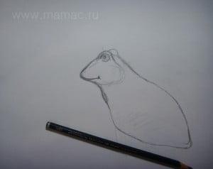 Продолжаем рисовать тело лягушки