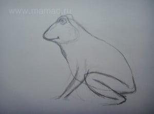 Рисуем лапки царевны-лягушки
