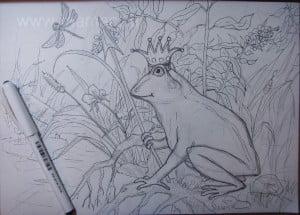 Рисунок царевны лягушки