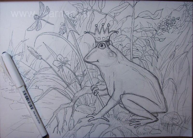 Рисуем стрекоз поэтапно