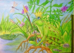 Раскрасили царевну лягушку