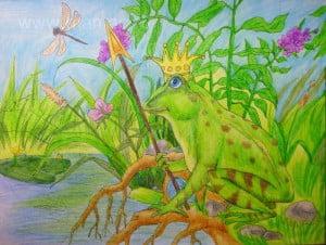 Рисунок царевны-лягушки готов