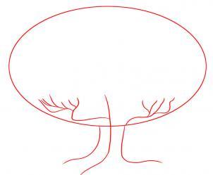 как рисовать дуб