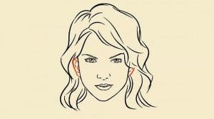 как нарисовать поэтапно лицо девушки