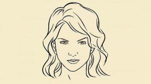 как правильно нарисовать лицо девушки
