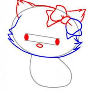 как просто нарисовать котенка