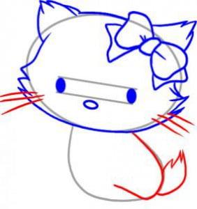 как нарисовать котенка простым карандашом