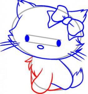 как правильно нарисовать котенка