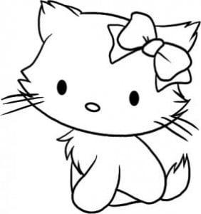 как нарисовать милого котенка поэтапно