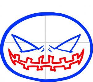 Рисуем рот на тыкве для Хэлуина