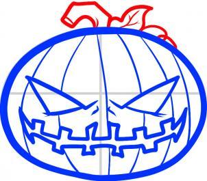как рисовать тыкву на хэллоуин
