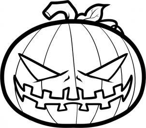 как нарисовать тыкву на хэллоуин карандашом поэтапно