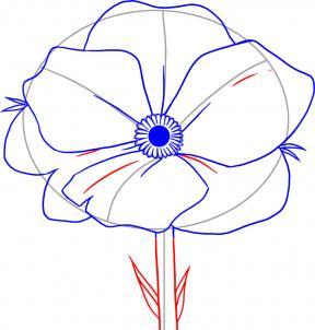 как рисовать Аленький цветочек