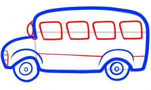 рисуем веселый автобус для детей