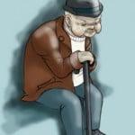 Как нарисовать старика с палкой карандашом поэтапно