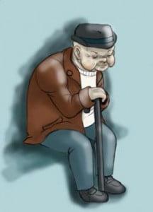 нарисовать старика поэтапно