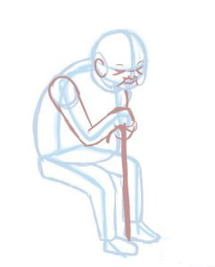 как нарисовать старика поэтапно карандашом
