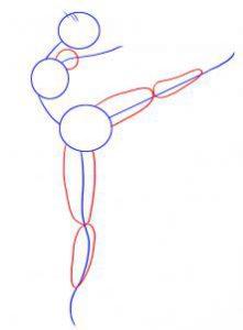 как нарисовать балерину карандашом