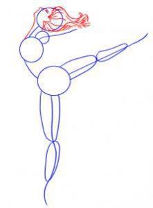 как нарисовать балерину карандашом поэтапно