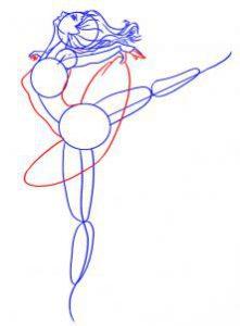 как нарисовать ребенку балерину