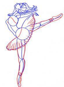 как нарисовать балерину картинки