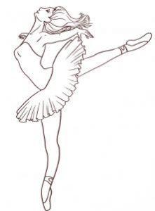 как красиво нарисовать балерину